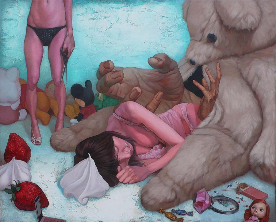 dipinti-perdita-innocenza-bambine-inquietanti-surreali-kazuhiro-hori-09