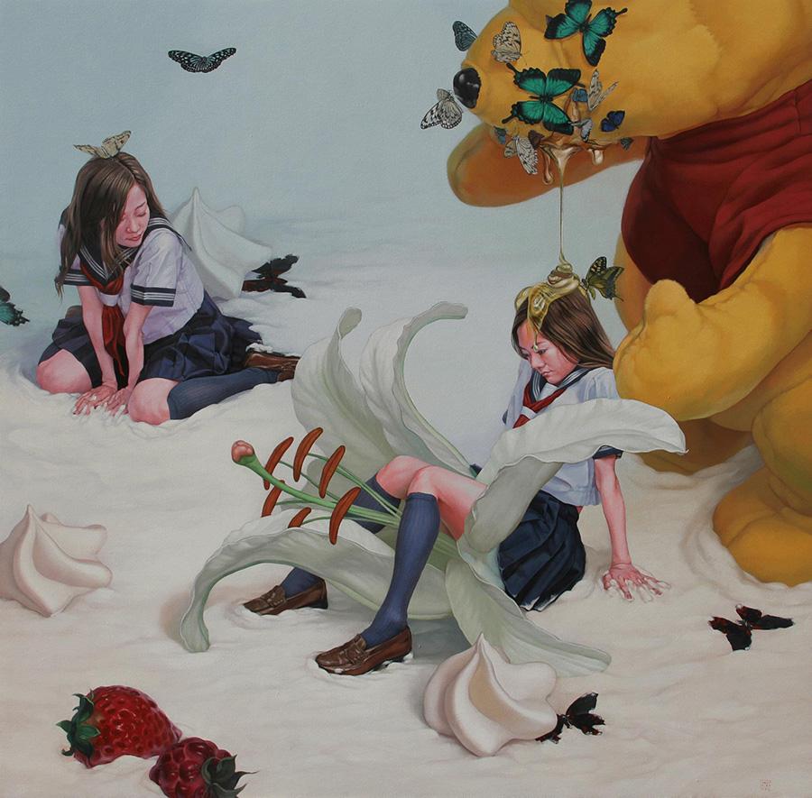 dipinti-perdita-innocenza-bambine-inquietanti-surreali-kazuhiro-hori-10
