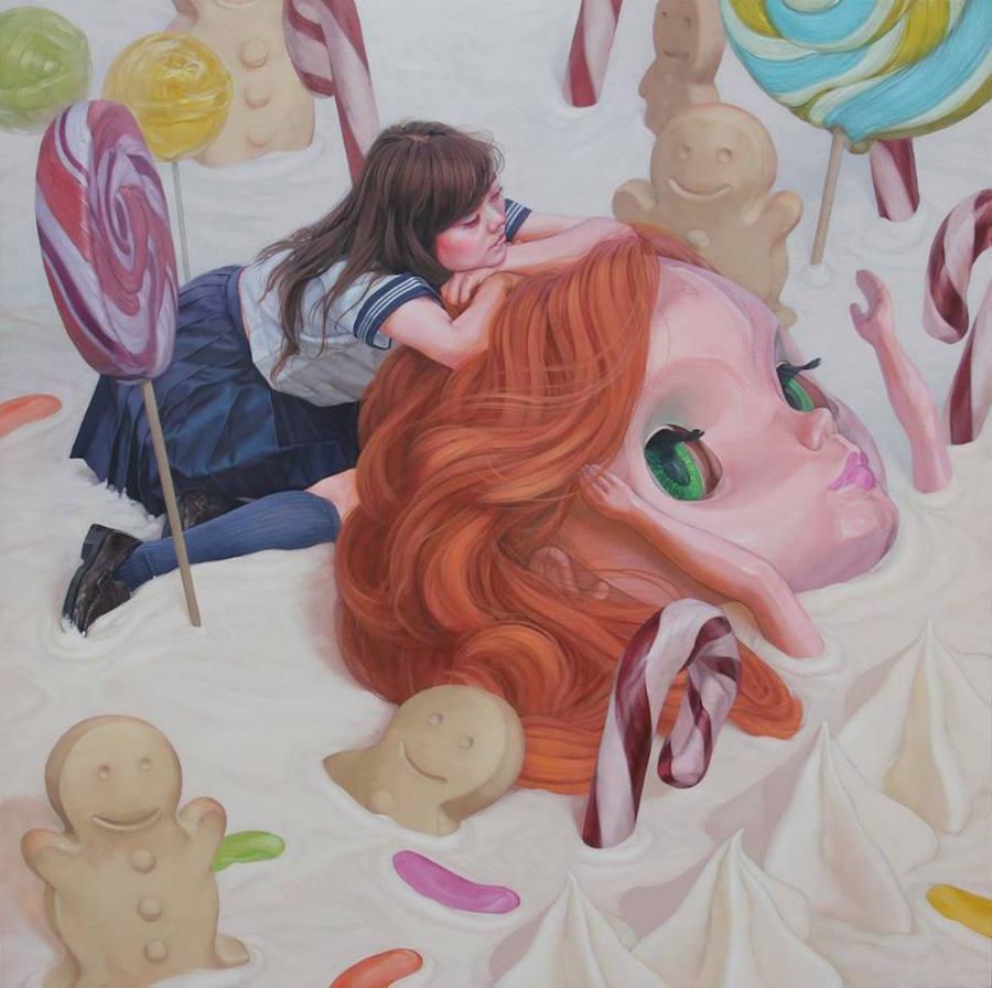 dipinti-perdita-innocenza-bambine-inquietanti-surreali-kazuhiro-hori-11