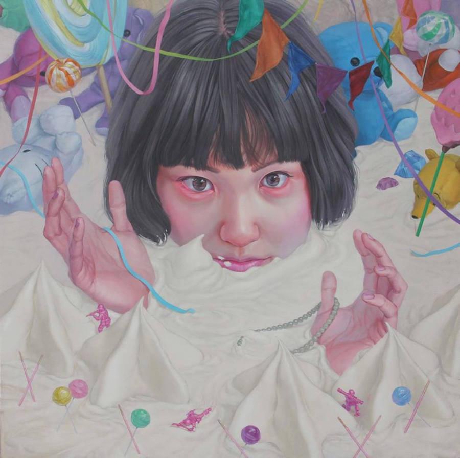 dipinti-perdita-innocenza-bambine-inquietanti-surreali-kazuhiro-hori-13