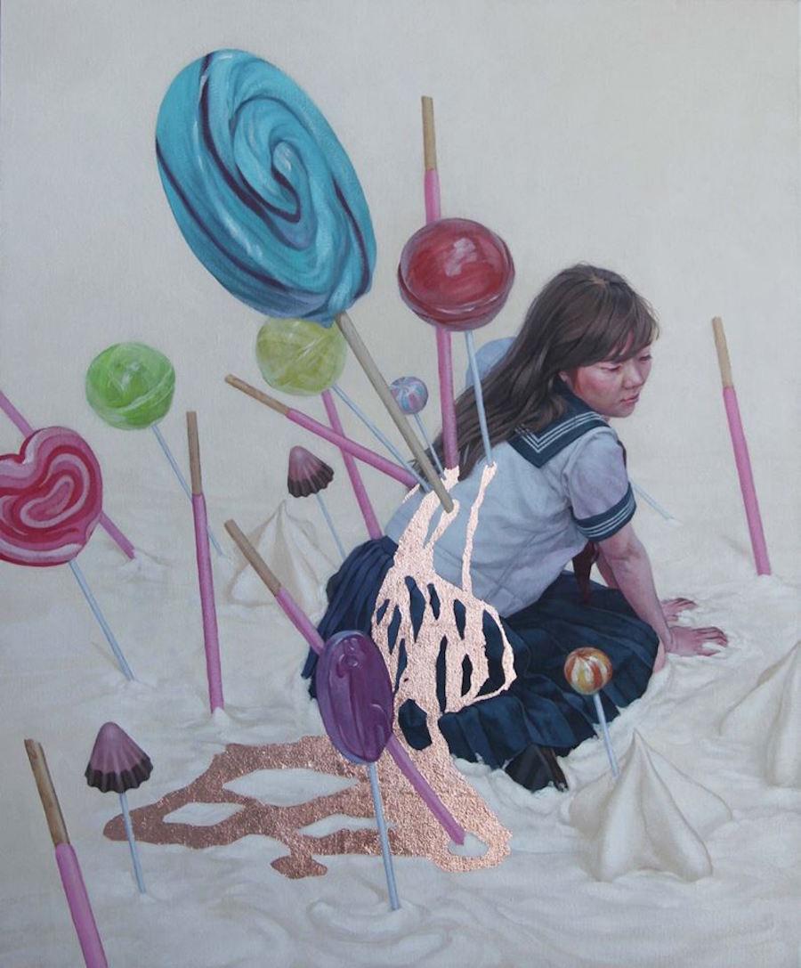 dipinti-perdita-innocenza-bambine-inquietanti-surreali-kazuhiro-hori-14