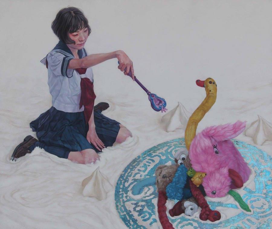 dipinti-perdita-innocenza-bambine-inquietanti-surreali-kazuhiro-hori-15