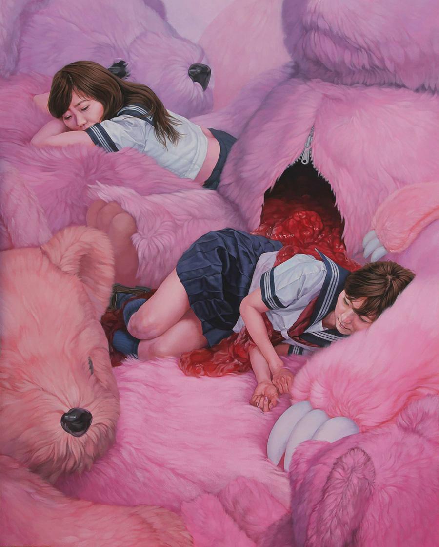 dipinti-perdita-innocenza-bambine-inquietanti-surreali-kazuhiro-hori-16