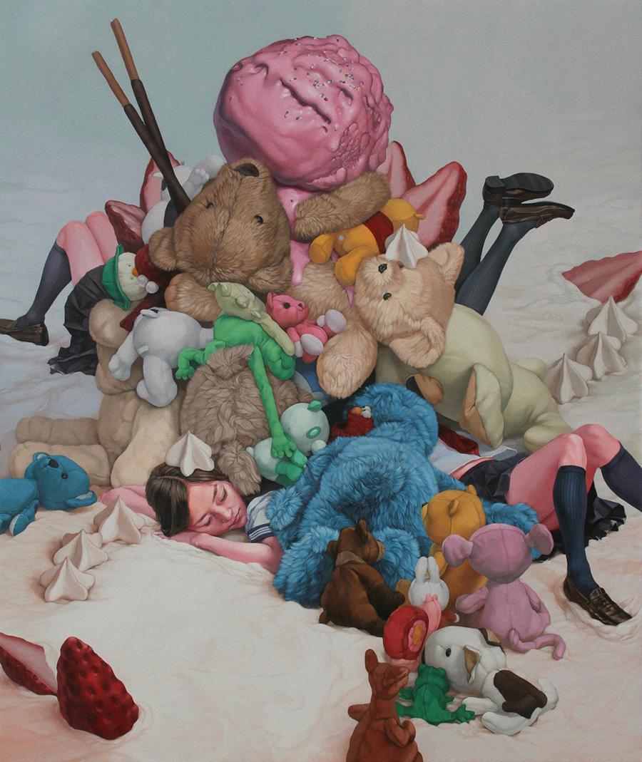 dipinti-perdita-innocenza-bambine-inquietanti-surreali-kazuhiro-hori-17