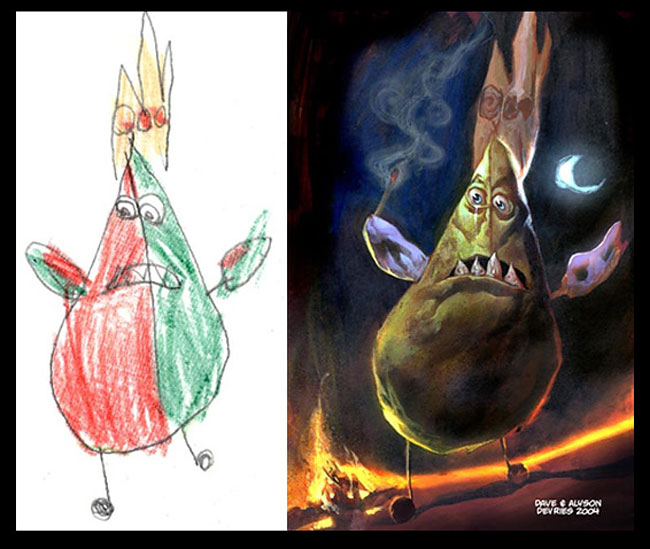 disegni-bambini-dipinti-realistici-the-monster-engine-09