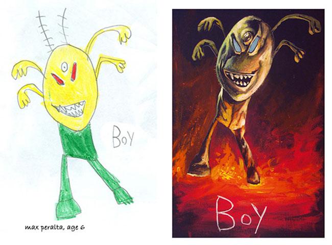 disegni-bambini-dipinti-realistici-the-monster-engine-11