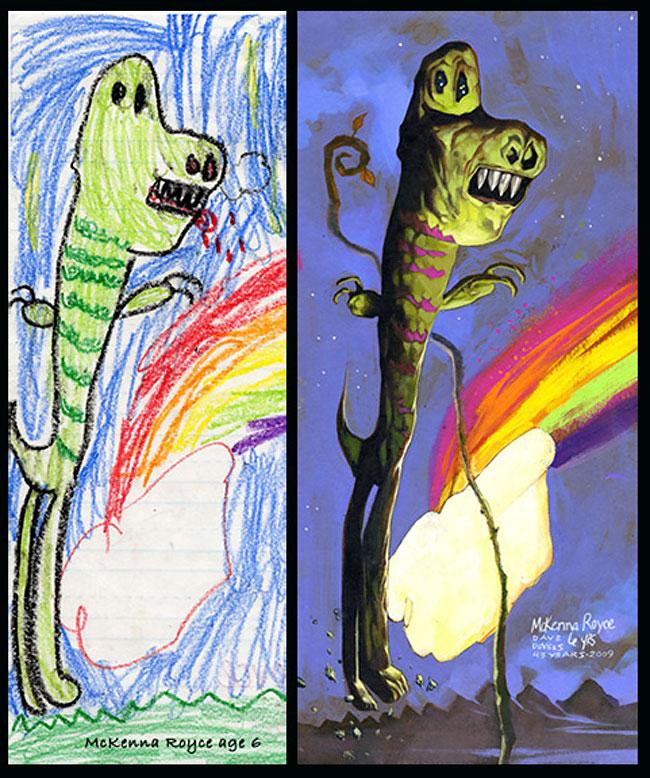 disegni-bambini-dipinti-realistici-the-monster-engine-13
