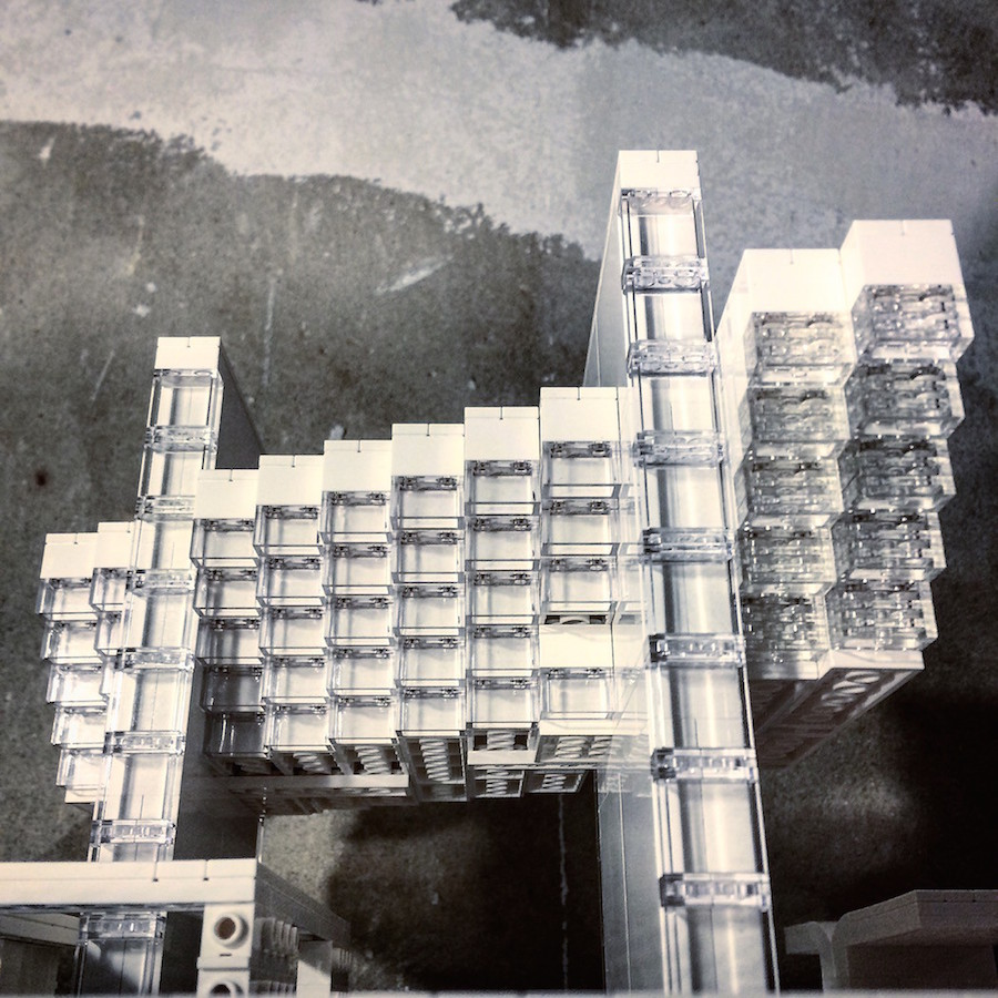 edifici brutalismo architettura lego mattoncini arndt