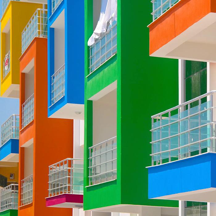 La faccia colorata e moderna di istanbul fotografata da - Architettura casa moderna ...