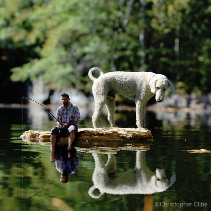 fotografia-photoshop-cane-gigante-avventure-juji-christopher-cline-06