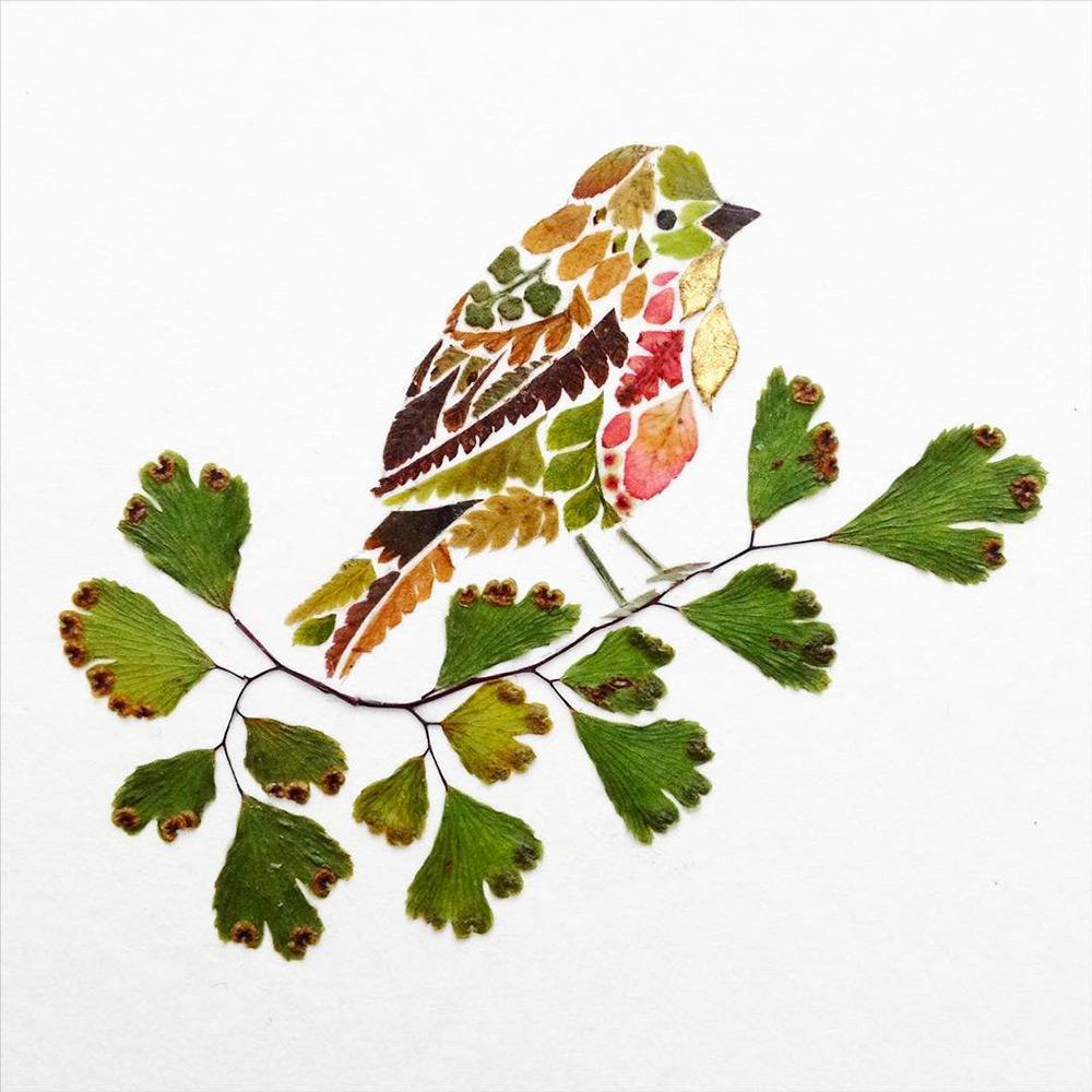 illustrazioni-animali-alghe-felci-foglia-oro-helen-ahpornsiri-02