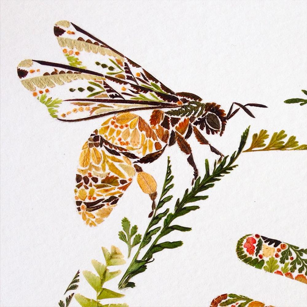 illustrazioni-animali-alghe-felci-foglia-oro-helen-ahpornsiri-09