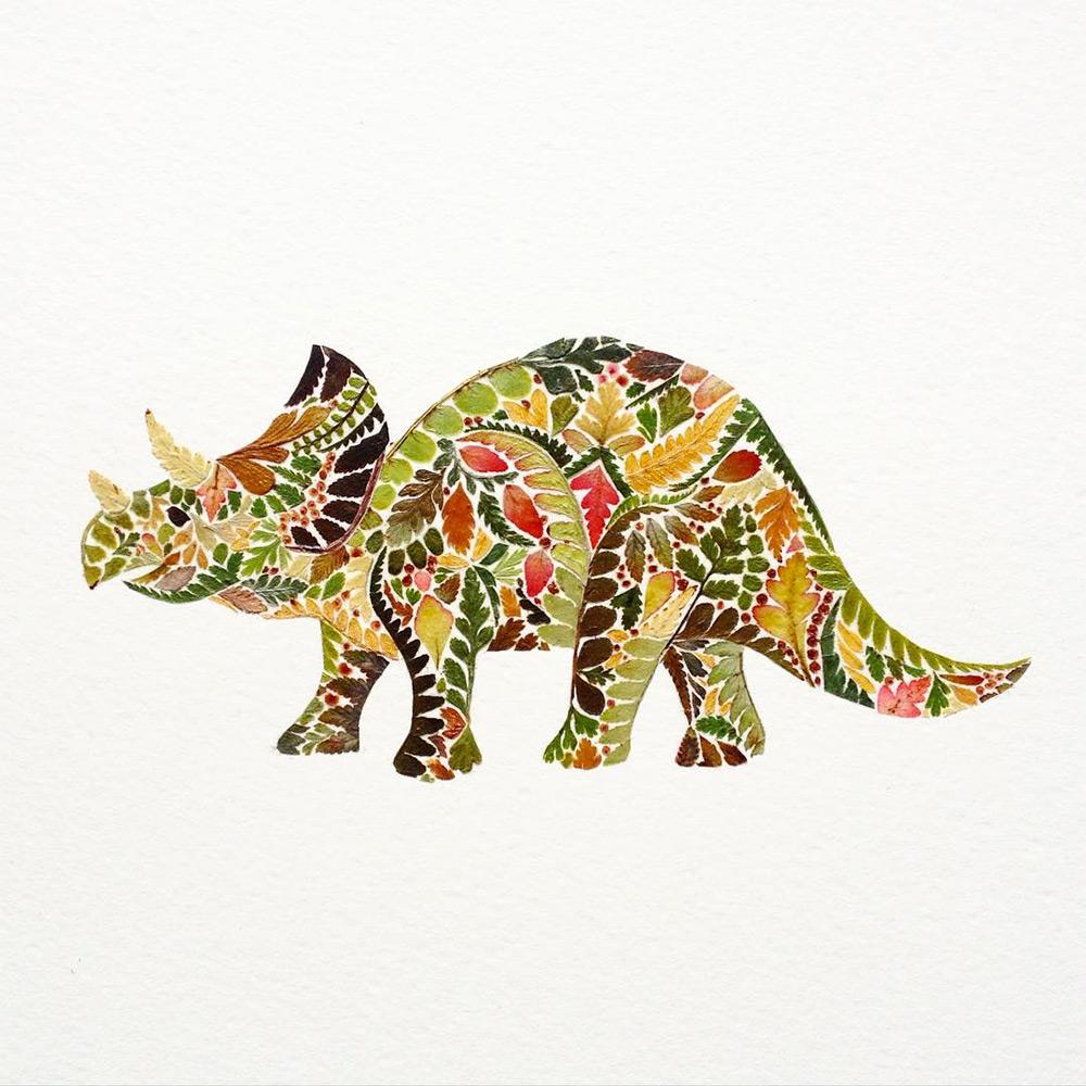 illustrazioni-animali-alghe-felci-foglia-oro-helen-ahpornsiri-10