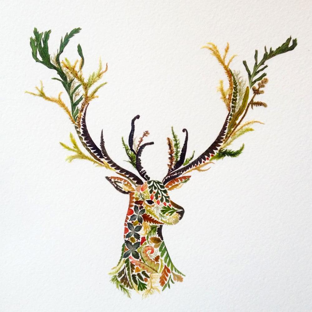 illustrazioni-animali-alghe-felci-foglia-oro-helen-ahpornsiri-11