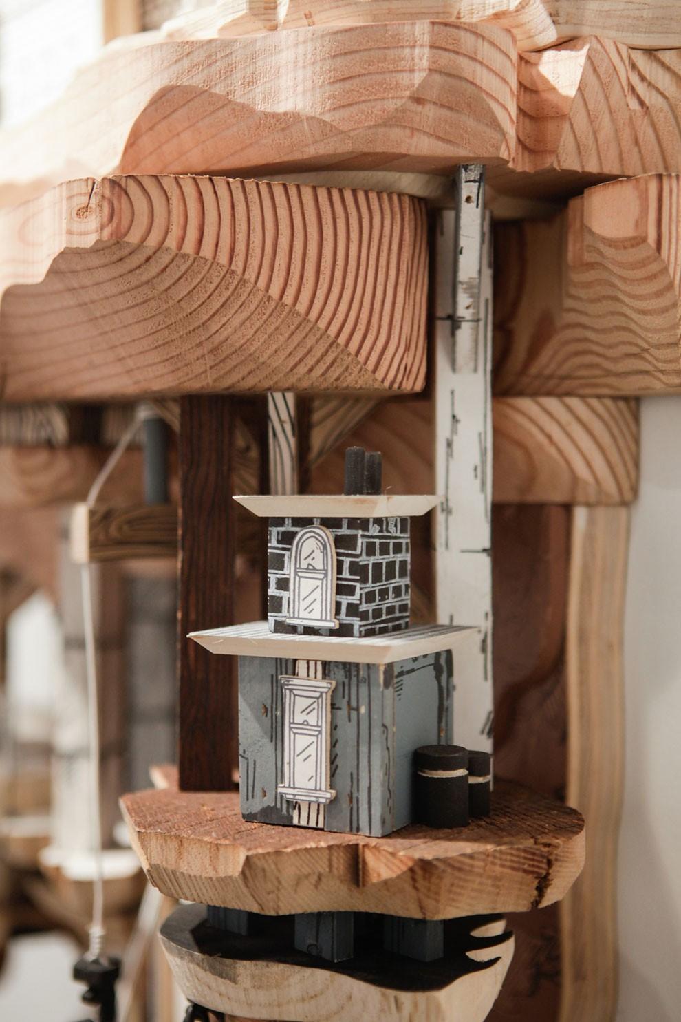 Illustrazioni scultura mondi miniatura architettura luke o for Arredamento in miniatura