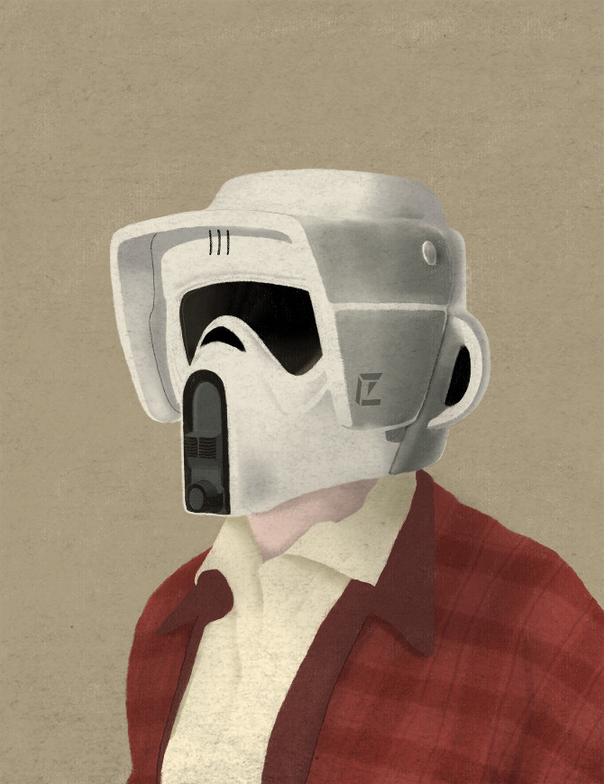 illustrazioni-star-wars-retro-vintage-chase-kunz-scouttrooper