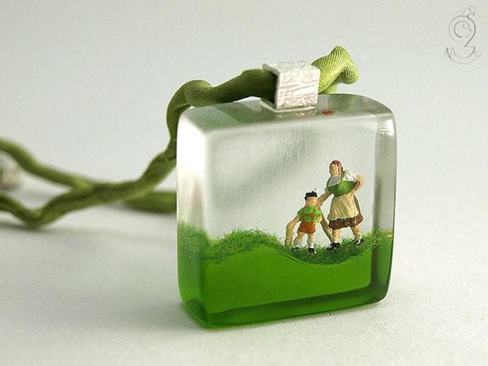 Miniature dentro anelli e gioielli, Isabell Kiefhaber