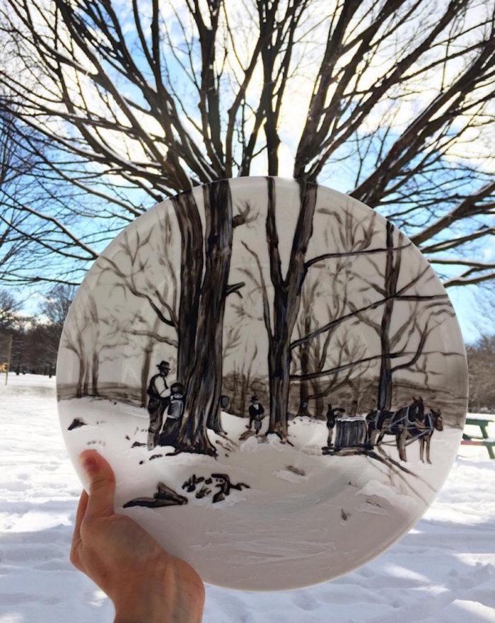 piatti-dipinti-scene-luoghi-reali-illusione-ottica-jacqueline-poirier-06