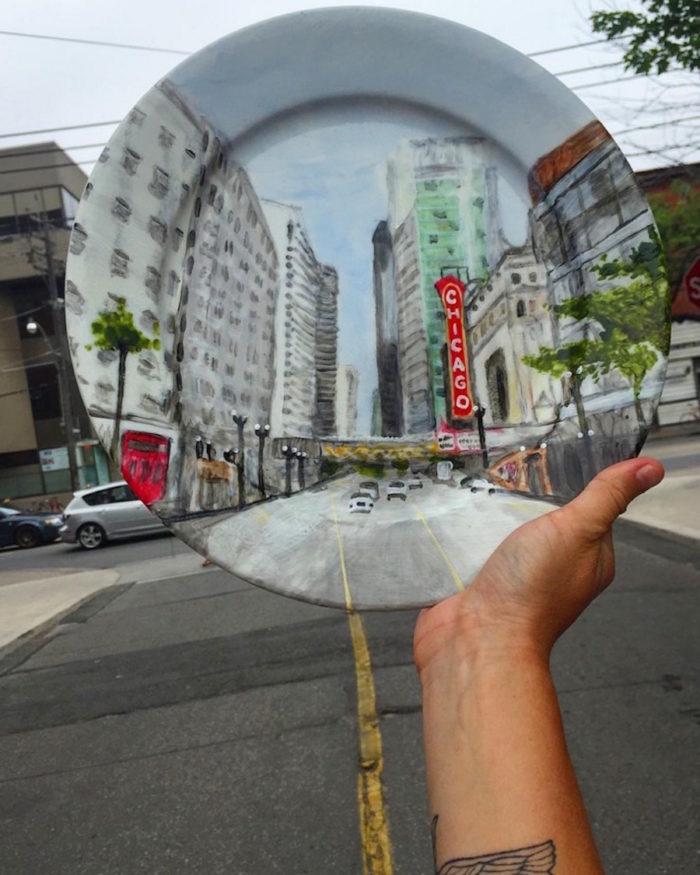 piatti-dipinti-scene-luoghi-reali-illusione-ottica-jacqueline-poirier-11