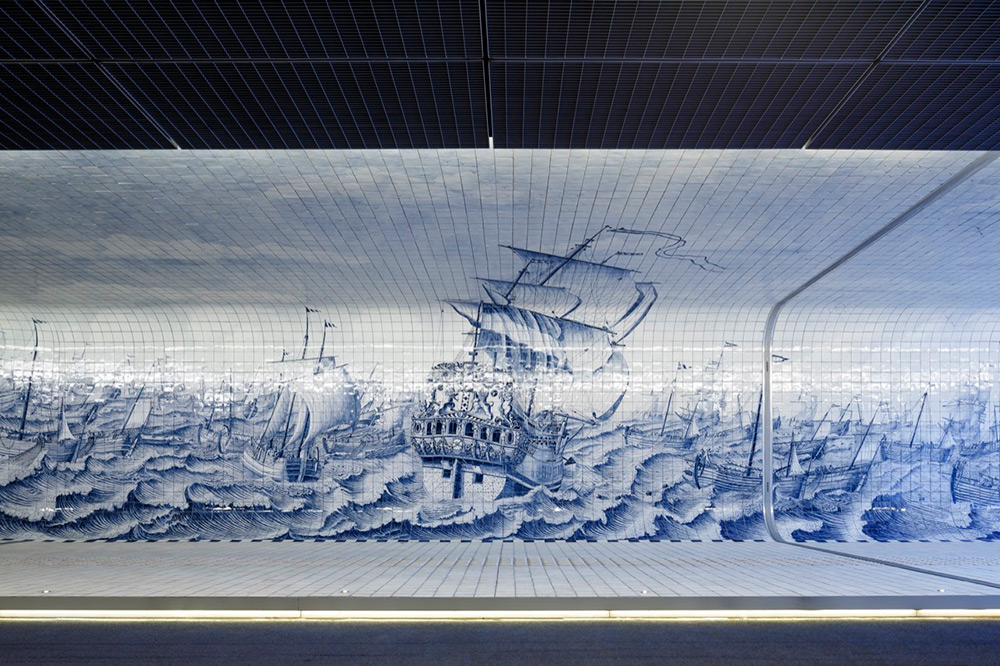 tunnel-pedonale-ciclabile-amsterdam-murale-piastrelle-cuyperspassage-2