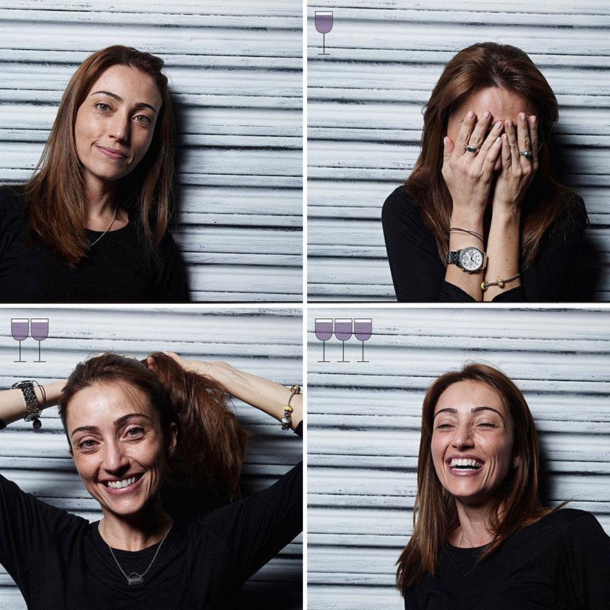 Persone Fotografate Dopo Aver Bevuto Vino Marcos Alberti