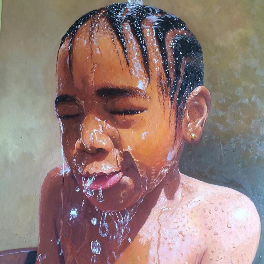 dipinti-iper-realistici-bambini-giocano-acqua-nigeria-oresegun-olumide-3