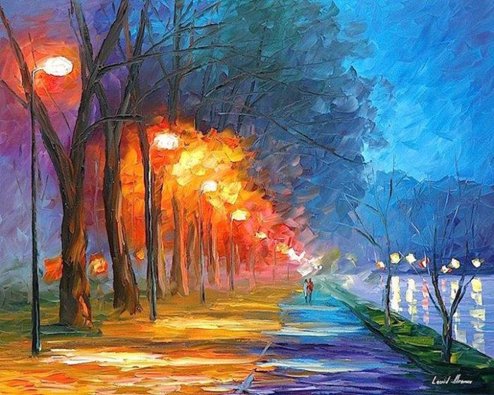 Colorati dipinti autunnali ad olio keblog for Quadri semplici
