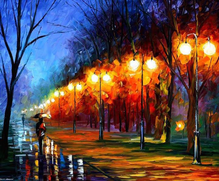 Colorati Dipinti Autunnali Ad Olio Keblog
