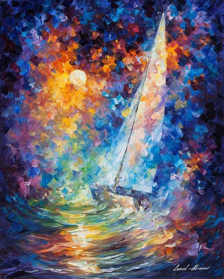Dipinti Olio Impressionismo Paesaggi Autunno Leonid Afremov 08 Keblog