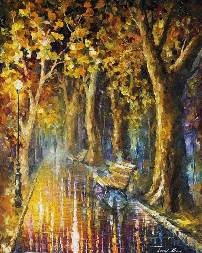 dipinti-olio-impressionismo-paesaggi-autunno-leonid-afremov-11