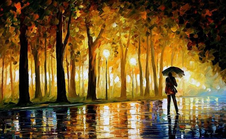 Dipinti Olio Impressionismo Paesaggi Autunno Leonid Afremov 12 Keblog