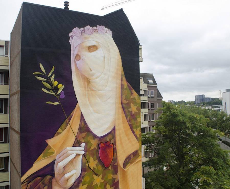 Spettacolare murales gigante e multicolore - KEBLOG