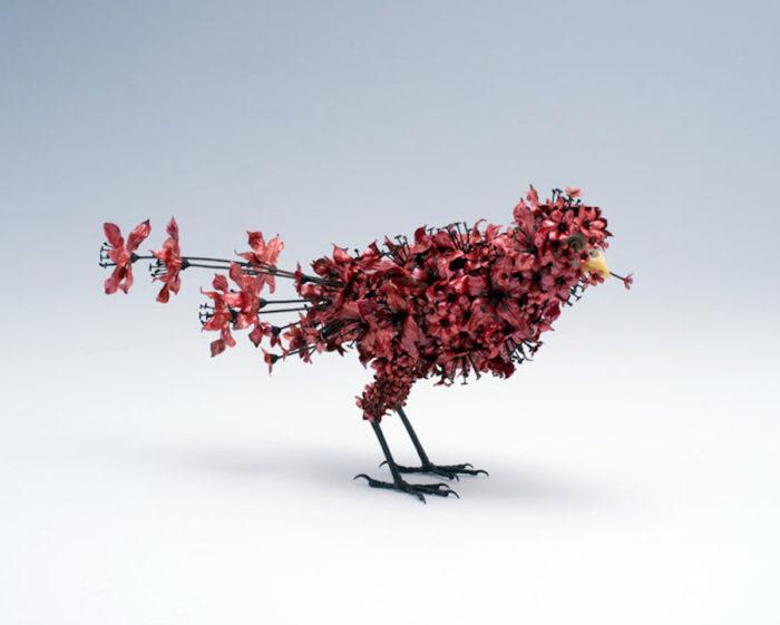 sculture-animali-fiori-metallo-rame-argento-taiichiro-yoshida-11
