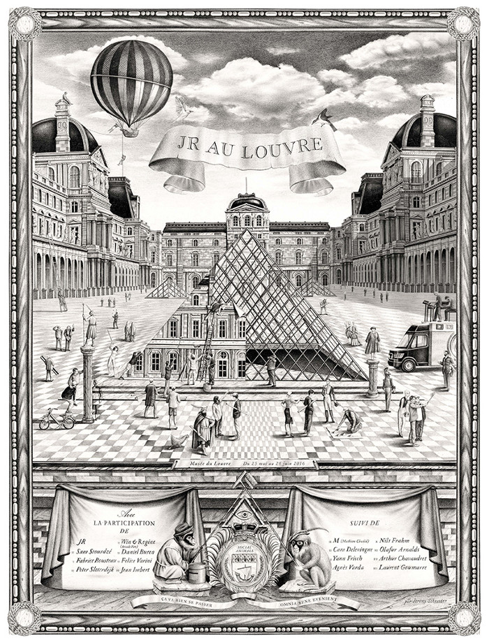 JR-installazione-piramide-louvre-ricoperta-parigi-7