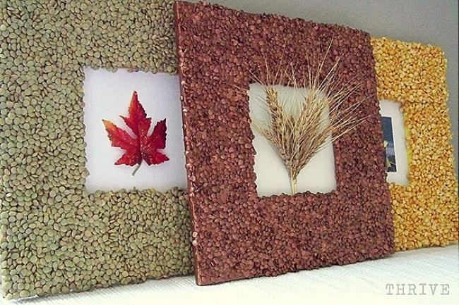 Cornice fai da te ecologica con cereali