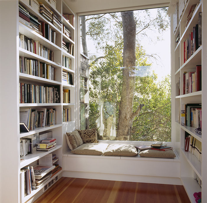 Angolo lettura in casa