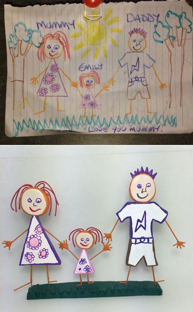 disegni-diventano-giocattoli-statuette-argilla-01