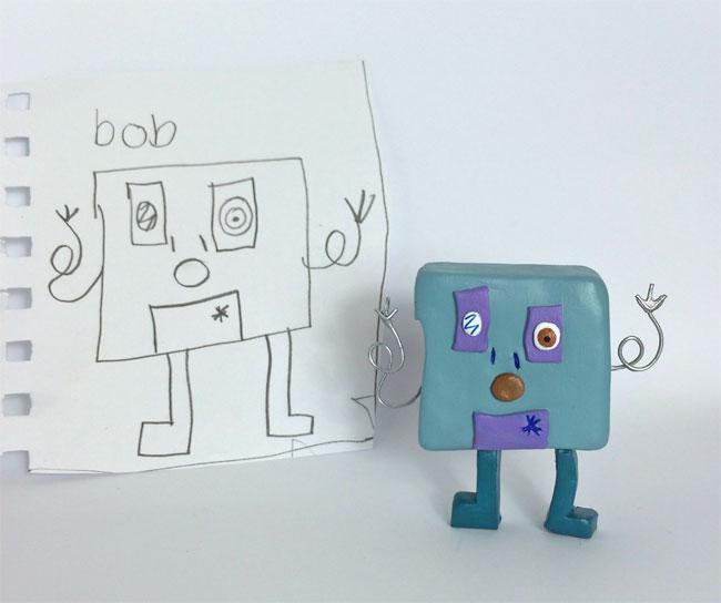 disegni-diventano-giocattoli-statuette-argilla-06