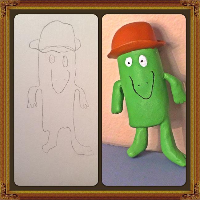 disegni-diventano-giocattoli-statuette-argilla-07