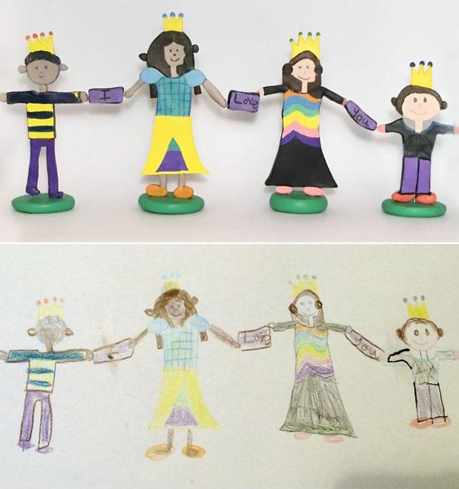 disegni-diventano-giocattoli-statuette-argilla-09