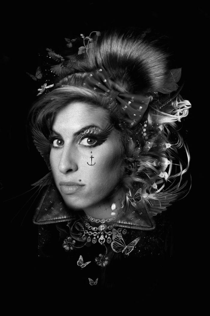foto-ritratti-bianco-e-nero-fantasy-cantanti-famose-AMY-WINEHOUSE
