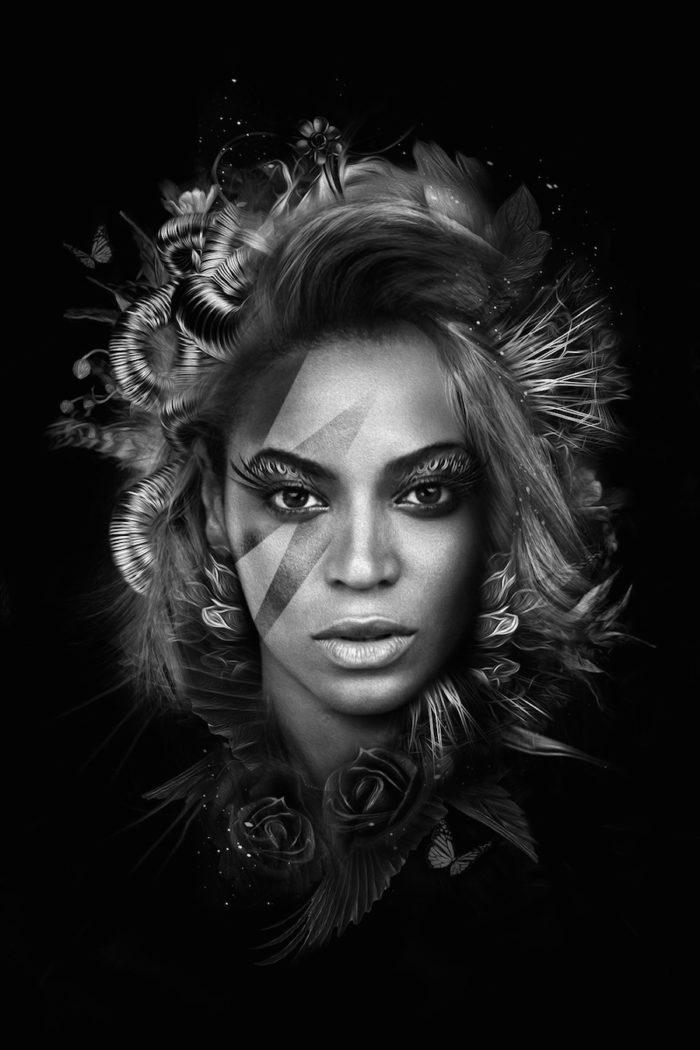foto-ritratti-bianco-e-nero-fantasy-cantanti-famose-BEYONCE