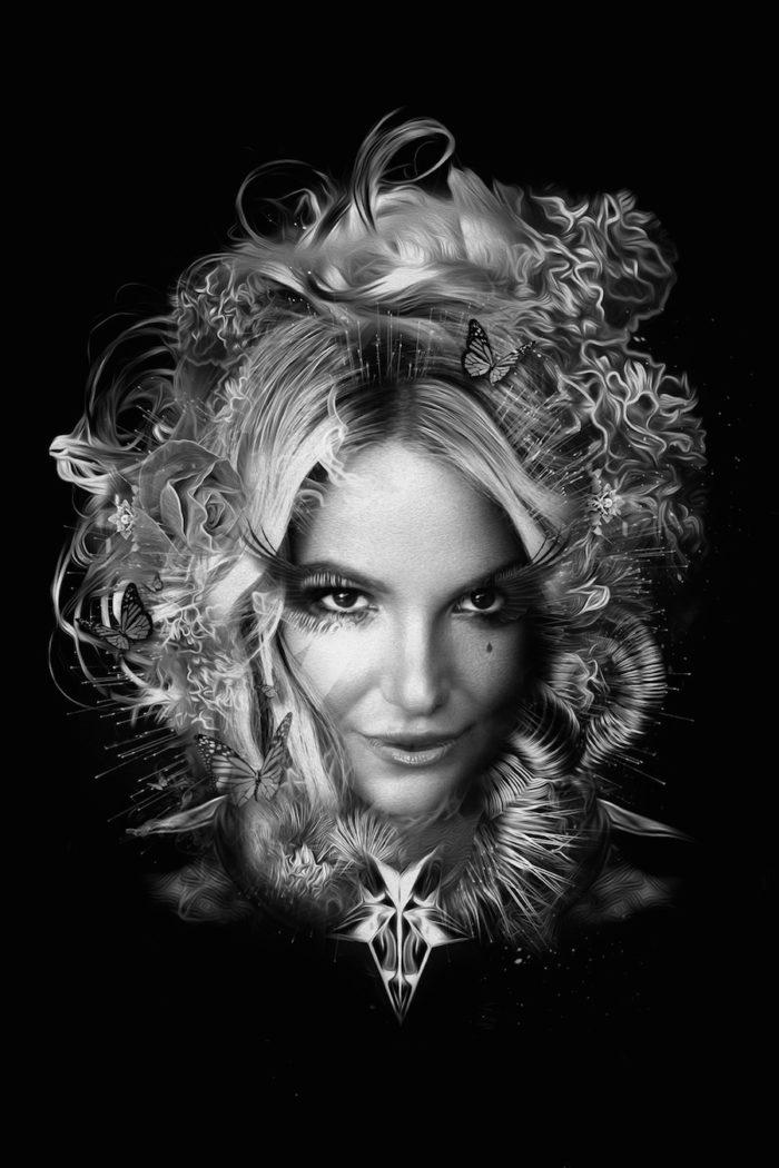 foto-ritratti-bianco-e-nero-fantasy-cantanti-famose-BRITNEY-SPEARS