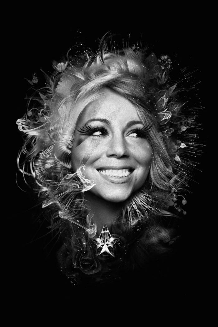 foto-ritratti-bianco-e-nero-fantasy-cantanti-famose-MARIA-CAREY