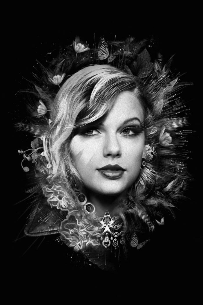 foto-ritratti-bianco-e-nero-fantasy-cantanti-famose-TAYLOR-SWIFT