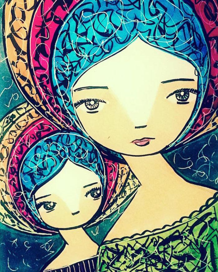 illustrazioni-maternita-madre-figlia-sora-ceballos-lopez-03