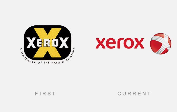 Loghi famosi ieri oggi originali inizi, Xerox