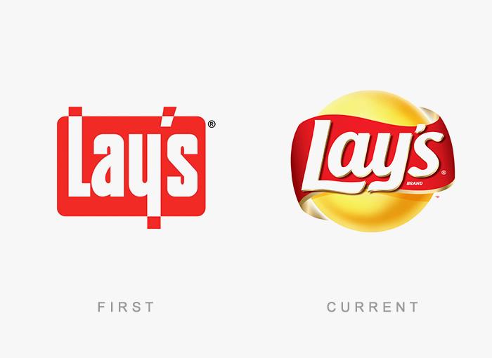 Loghi famosi ieri oggi originali inizi, Lay's