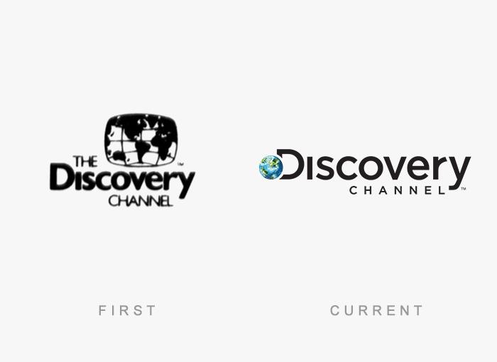Loghi famosi ieri oggi originali inizi, Discovery Channel
