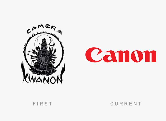 Loghi famosi ieri oggi originali inizi, Canon